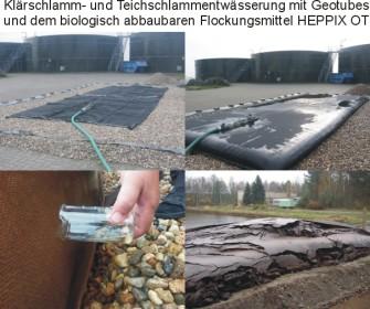 Klärschlammentwässerung mit Geotubesx